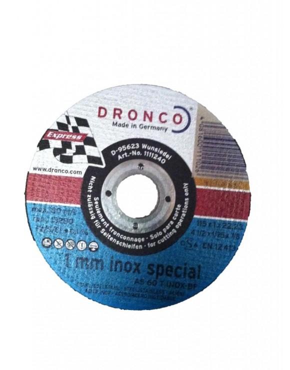 DISCO DE CORTE 115X1,0X22,2 C.METAL DRONCO AS60INOX
