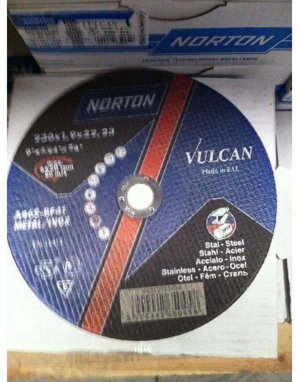 25X DISCOS DE CORTE 230X1.9X22.2 C.METAL NORTON