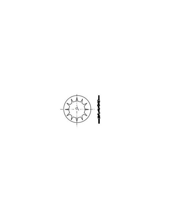 Arandela elástica dentada Forma J DIN 6798