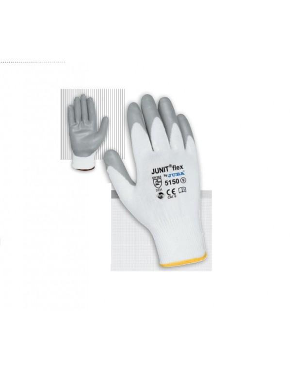 10Par Guante de Nylon® sin costuras con recubrimiento de nitrilo foam microporoso en palma JUBA