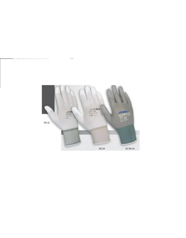10 Par Guante de Nylon® sin costuras con recubrimiento de poliuretano.JUBA TKE 02 / TKE 04 / GG TKE 04
