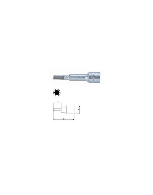 VASO 1/4 PUNTA EXAGONAL METRICAS SERIE LARGA ref.A6709M