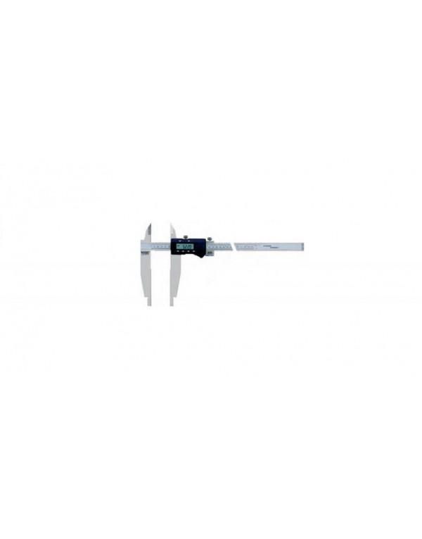Calibre pie de rey monobloc electrónico-digital DIN 862 con puntas para tornero