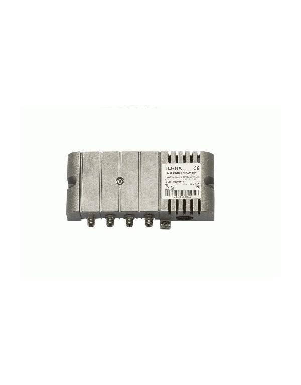 Amplificador CATV interior 37 dB, 120 dBuV TECATEL REF.TE-HA204R30