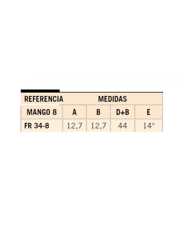 FRESA MANGO 8 METAL DURO INTEGRAL FR 34-8