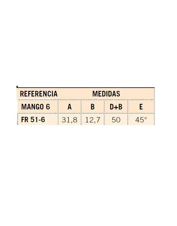 FRESA MANGO 6 METAL DURO INTEGRAL FR 51-6