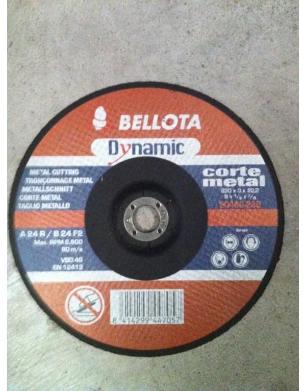 25X DISCOS DE CORTE 230X3X22.2 C.METAL BELLOTA