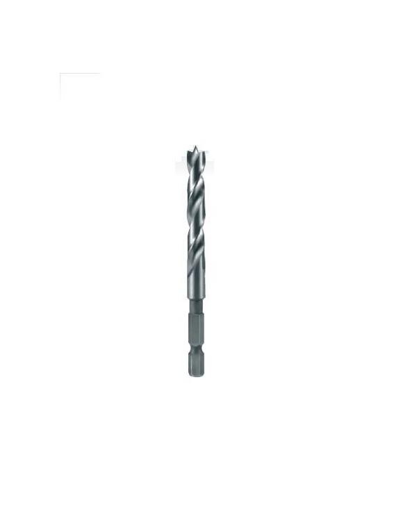 """Broca helicoidal para madera acero CV con mango hexagonal 1/4"""""""