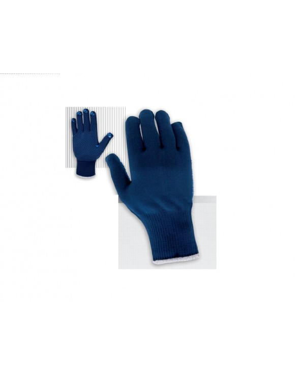 12 Par Guante de Nylon®/algodón sin costuras con puntos de PVC en palma. JUBA PM3P-214
