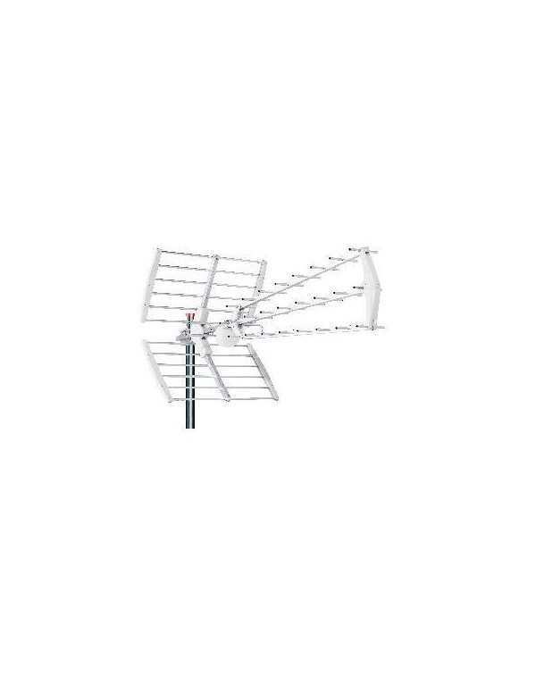 ANTENA WHITE TRIPLE PLEGABLE, UHF, G18dB LTE BLANCA TECATEL