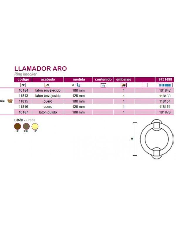 LLAMADOR ARO LATON